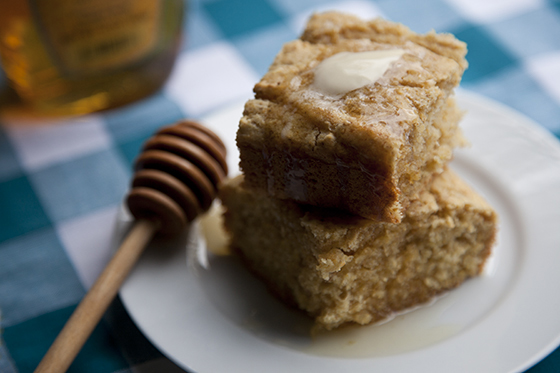 Vegan Cornbread with Honey