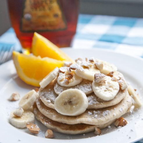 Favorite Vegan Pancakes | picklesnhoney.com #vegan #pancakes #recipe