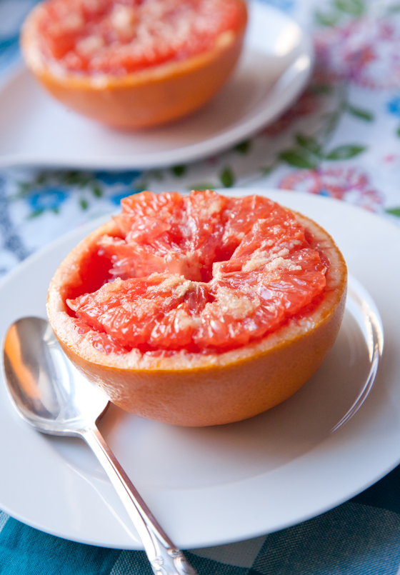 Broiled Grapefruit with Ginger Sugar | picklesnhoney.com #grapefruit #ginger #breakfast