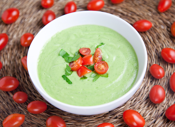 Raw Cucumber Avocado Soup