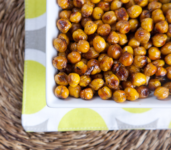 Balsamic Baked Chickpeas