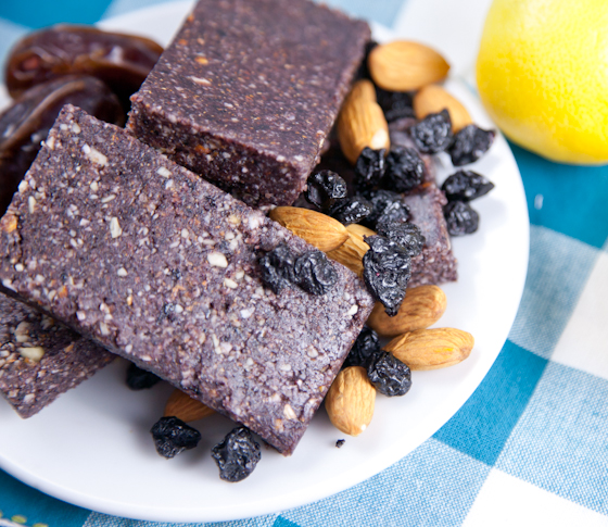 Raw Coconut Blueberry Lemon Bars