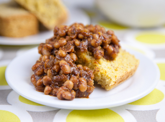 ... baked beans. The sleeping thing isn't going to happen, but the baked