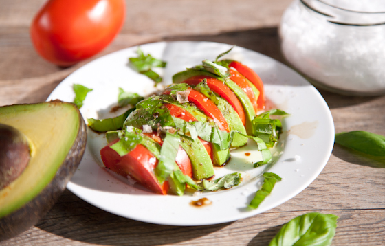 Vegan Caprese Salad with Avocado