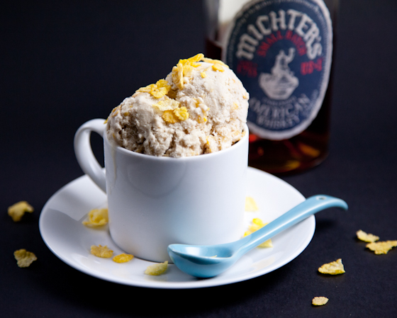 Bourbon Ice Cream with Corn Flakes