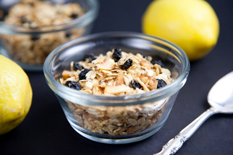 Lemon Blueberry Coconut Granola