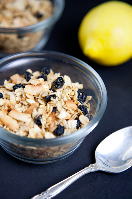 Homemade Lemon Blueberry Granola