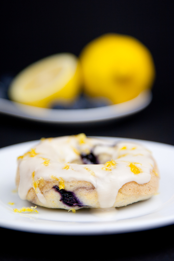 Gluten Free Lemon Blueberry Cornmeal Donuts Pickles Honey