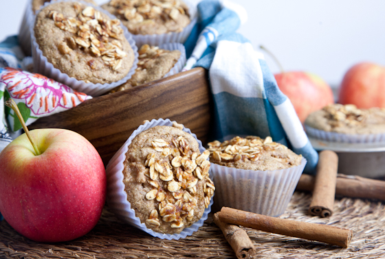 Oil-Free Apple Cinnamon Muffins