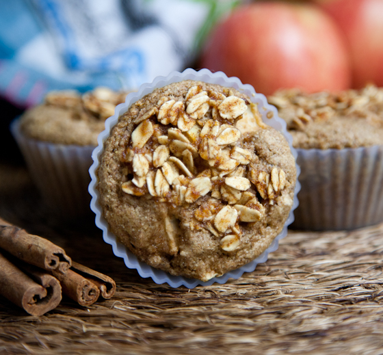 Apple Cinnamon Muffins with Spiced Maple Topping