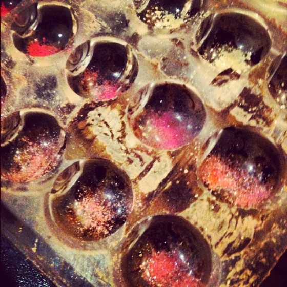 Edible Glitter Dusted Chocolate Molds