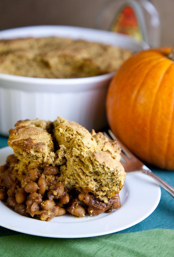 Pumpkin Maple Cornbread Baked Bean Casserole »
