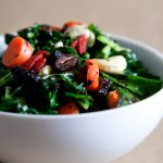 Superfood Kale Avocado Salad with Raw Olives