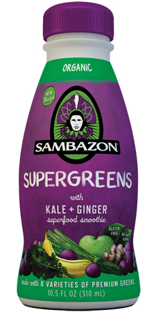 Sambazon Supergreens Kale Ginger Smoothie