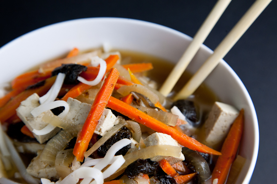Vegan Miso Soup with Tofu & Rice Noodles | Vegetable Miso ...