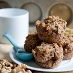 Vanilla-Glazed Lemon Banana Walnut Muffins