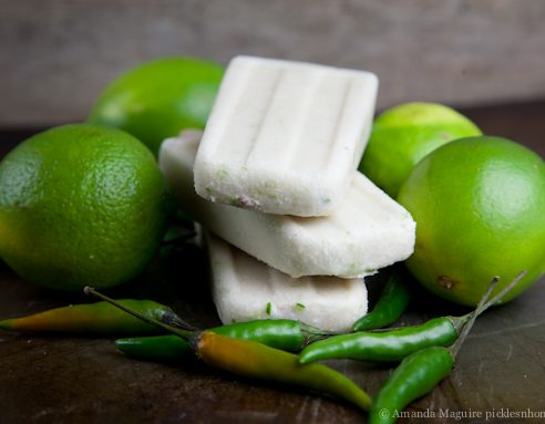 Coconut Lime Chili Popsicles