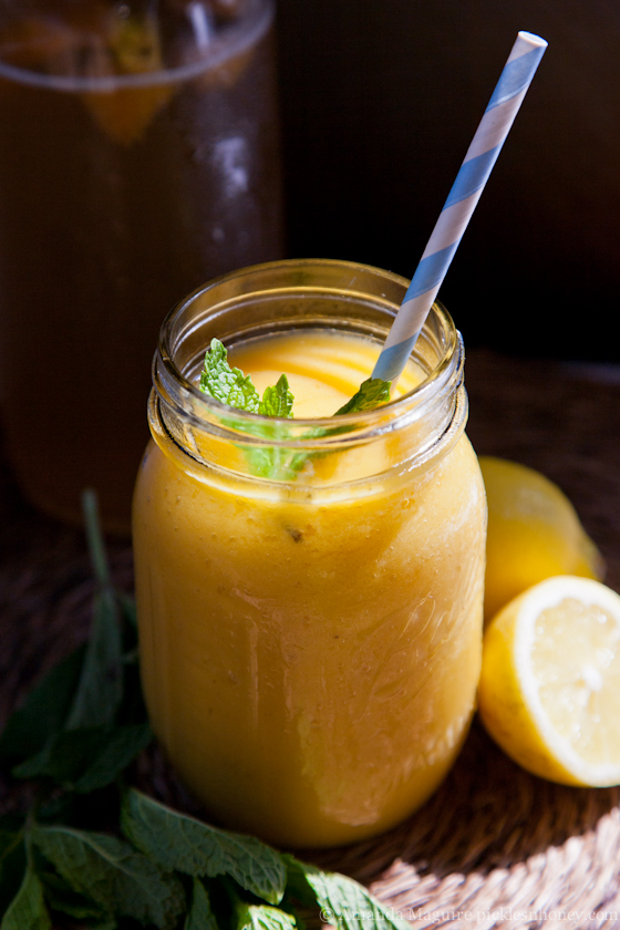 Mango Lemon Kombucha Smoothie