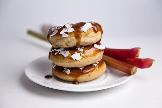 Gluten Free Rhubarb Donuts