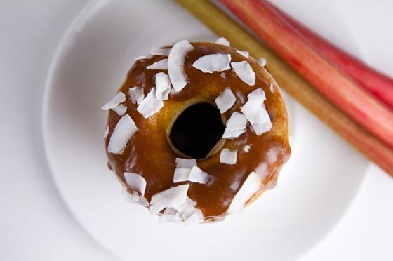 GF Rhubarb Donuts