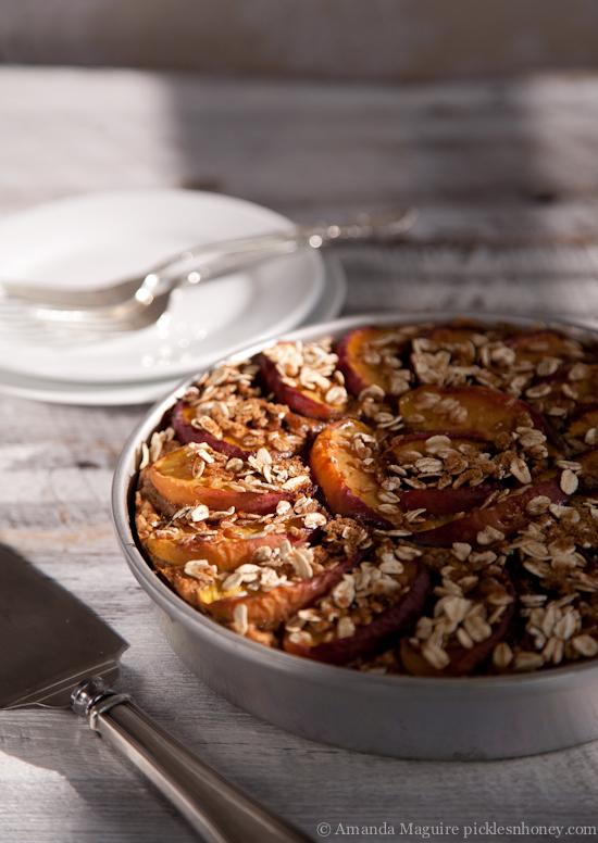 Nectarine-Topped Oatmeal Cake