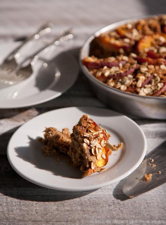 Vegan Nectarine-Topped Oatmeal Cake 2