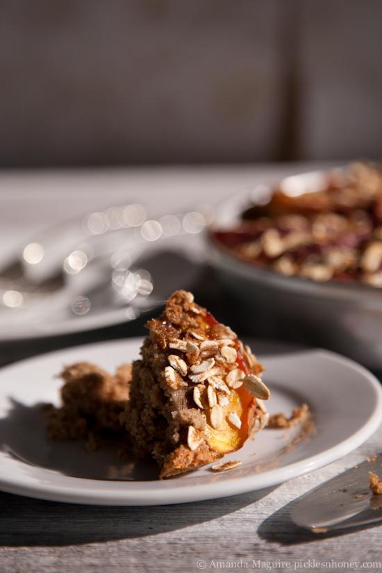 Vegan Nectarine-Topped Oatmeal Cake 3