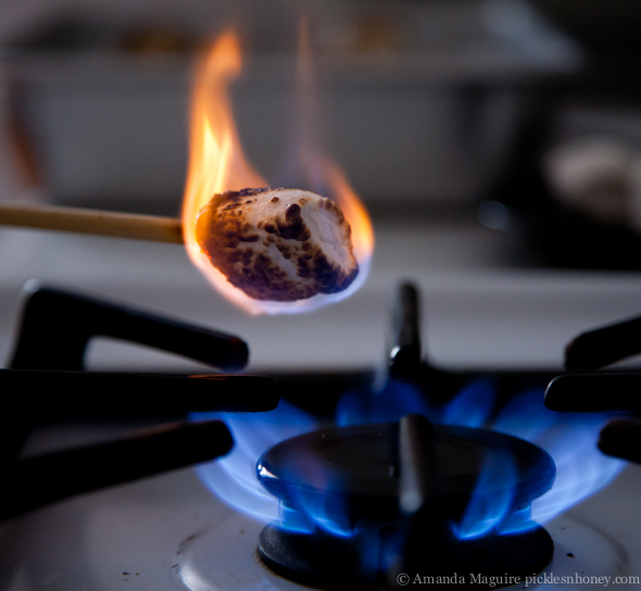 Roasting Marshmallows over the Stove