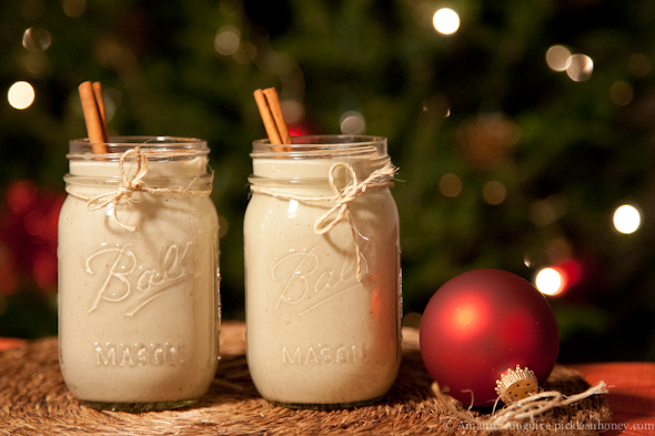 Easy Homemade Vegan Egg Nog // picklesnhoney.com
