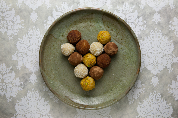 Vegan Marzipan Truffles // picklesnhoney.com