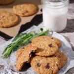 Tarragon Salted Dark Chocolate Chunk Cookies