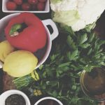 In the Kitchen: Cauliflower Cous Cous, Almond Veggie Burgers & Apple Tart