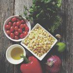 In the Kitchen: Corn Salsa, Cashew Sour Cream & Sweet Potato Black Bean Burritos