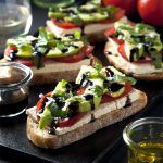 Open-Faced Vegan Caprese Sandwiches