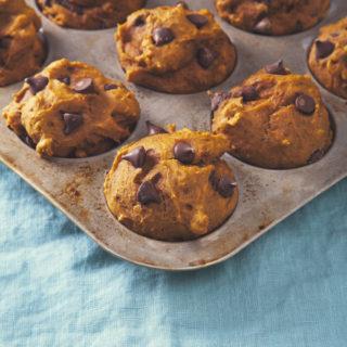 Peanut Butter Chocolate Chip Pumpkin Muffins