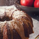 Spiced Apple Cider Spelt Cake with 3-Ingredient Vegan Caramel Sauce