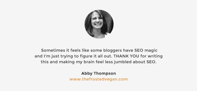 SEO for Food Bloggers | picklesnhoney.com