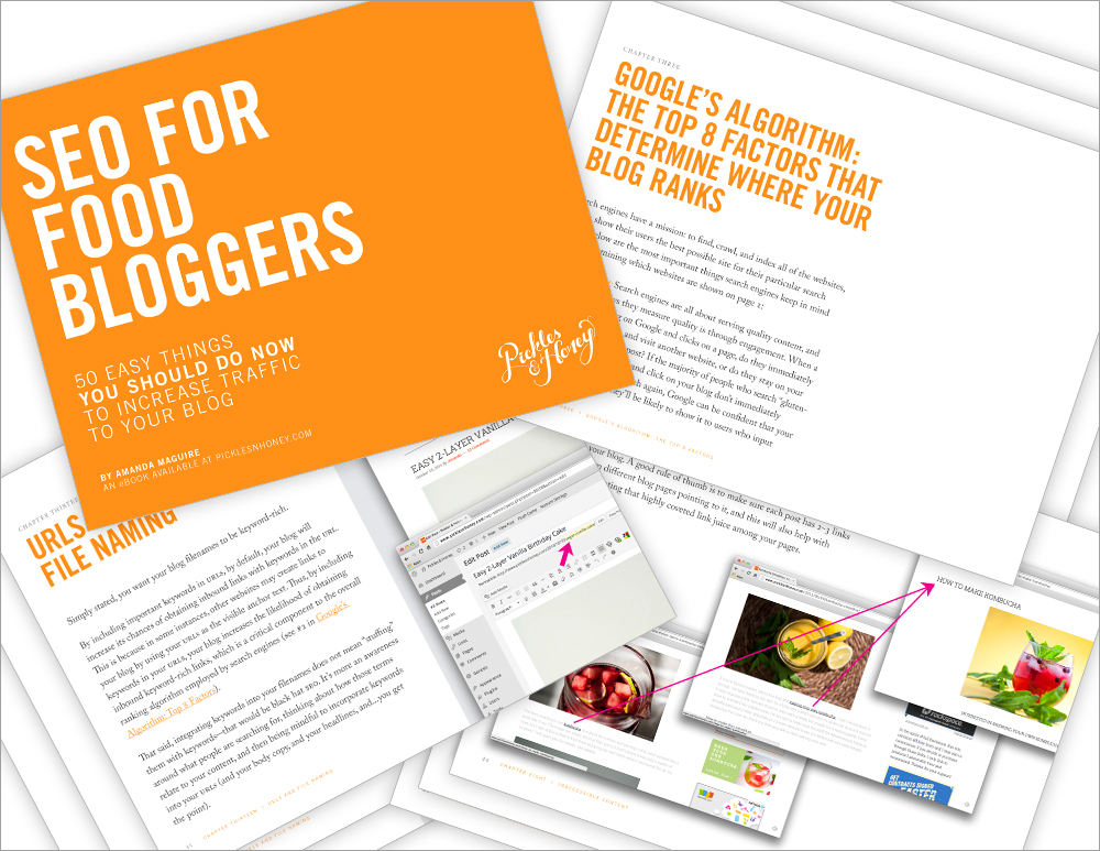 SEO for Food Bloggers eBook: 50 Easy Things To Increase Your Traffic | picklesnhoney.com