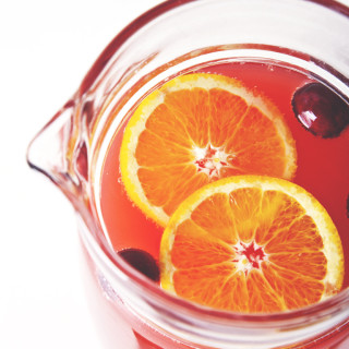 Cranberry Ginger Kombucha Mimosas