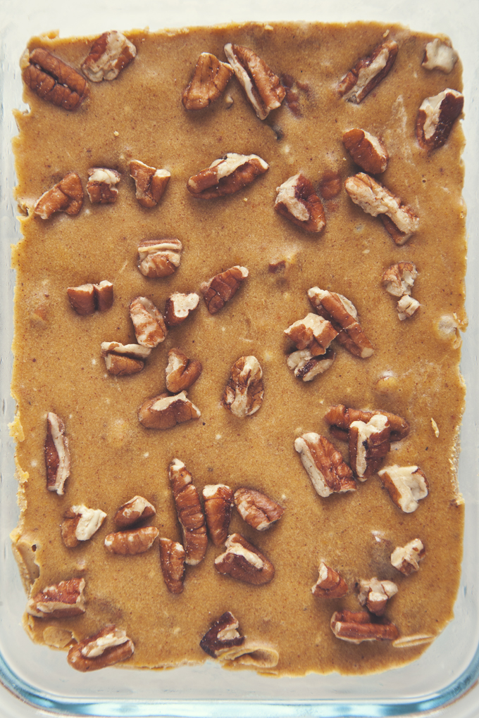 Easy Maple Pecan Pumpkin Pie Freezer Fudge | picklesnhoney.com
