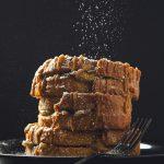 Vegan Caramel Apple-Stuffed French Toast