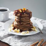 Apple Cinnamon Vegan Protein Pancakes