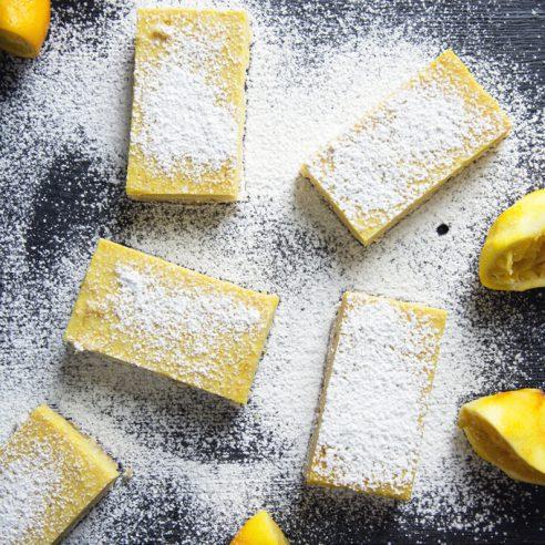 Gluten-Free Vegan Lemon Bars (Refined Sugar-Free, Grain-Free) | picklesnhoney.com