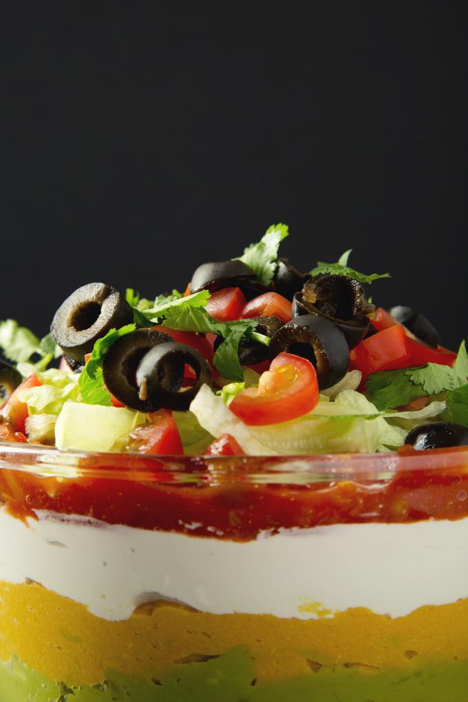 Easy Vegan 7 Layer Dip | picklesnhoney.com