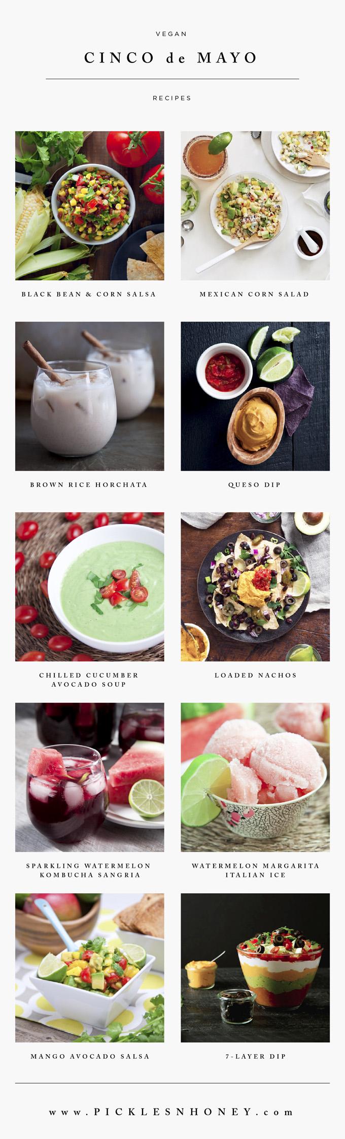 Simple Vegan Cinco de Mayo Recipes | picklesnhoney.com