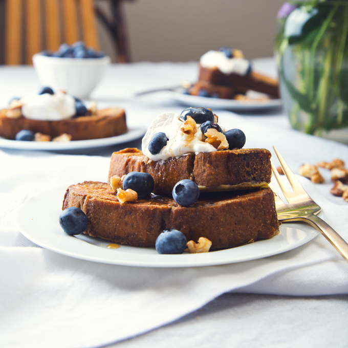Vegan & GF Banana Bread French Toast | picklesnhoney.com | #vegan #glutenfree