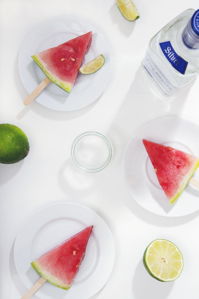 The Easiest Sliced Watermelon Margarita Popsicles | picklesnhoney.com ...