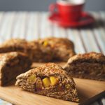 Whole Grain Lavender Peach-Stuffed Scones | picklesnhoney.com #vegan