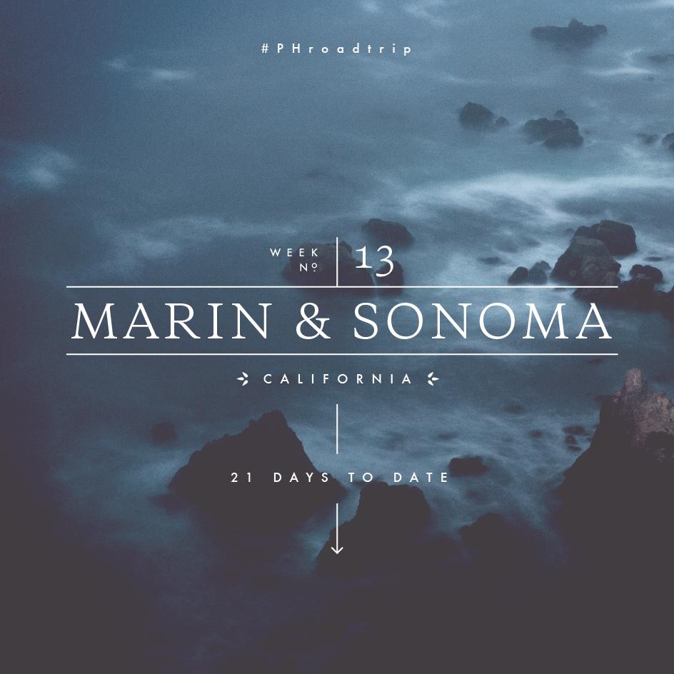 Sonoma and Marin Counties, CA #PHroadtrip