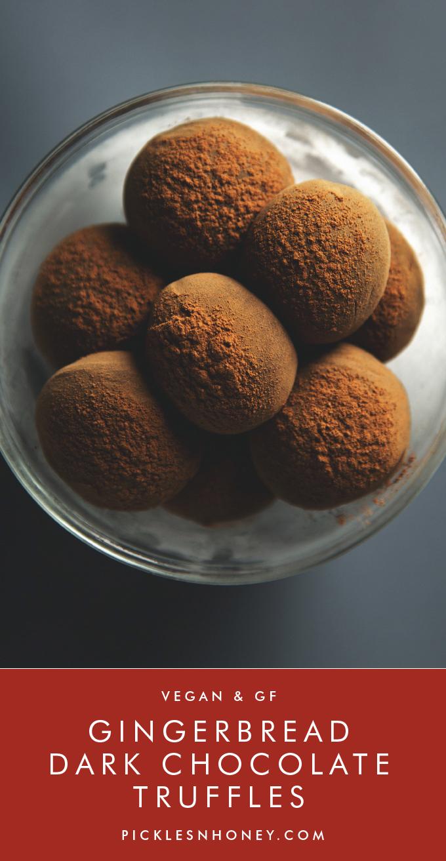Gingerbread Vegan Chocolate Truffles